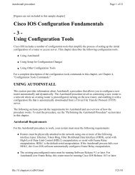 Cisco IOS Configuration Fundamentals - 3 - Using Configuration Tools