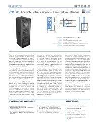 UPM-1P : Enceinte ultra-compacte à couverture étendue