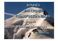 Bonnes pratiques transfusionnelles - Coordonnateurs Régionaux d ...