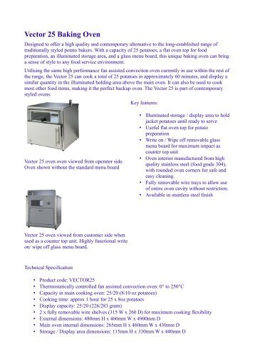 Vector 25 Baking Oven - Causa Horeca