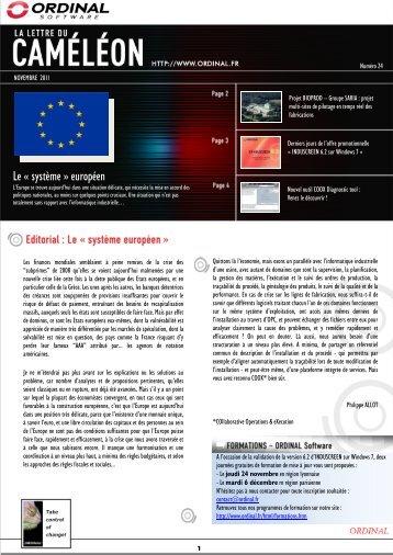 """Le """"système européen"""" - Ordinal Technologies"""
