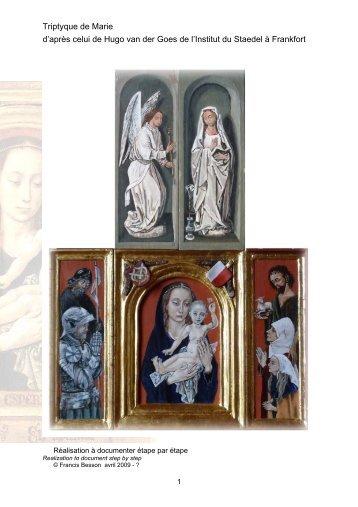 Triptyque de Marie d'après celui de Hugo van ... - viator - Le peintre