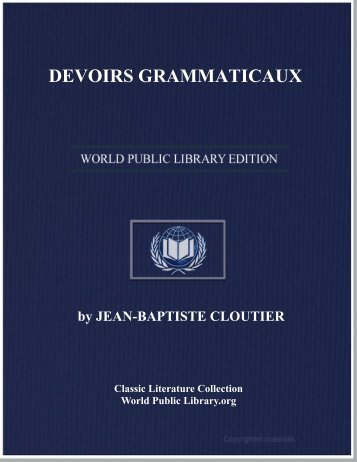 DEVOIRS GRAMMATICAUX - World eBook Library