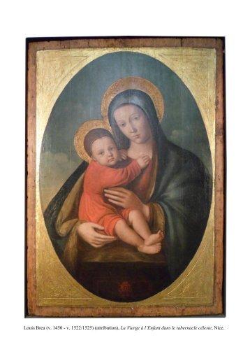 Louis Bréa, La Vierge à l'Enfant dans le tabernacle céleste