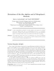 Extensions of the disk algebra and of Mergelyan's theorem