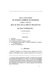 DE NOUVEAUX GISEMENTS DE DIPLOPORES - Revue de ...