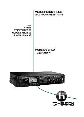 VoicePrismPlus FR.qxd - TC-Helicon