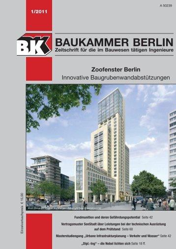 BK-Heft 2011-01 - Baukammer Berlin