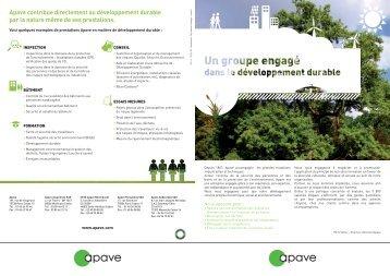 Télécharger la charte Développement Durable - Apave