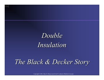 Double Insulation The Black & Decker Story Double Insulation The ...