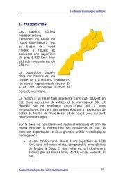 1. PRESENTATION Les bassins côtiers méditerranéens s'étendent ...