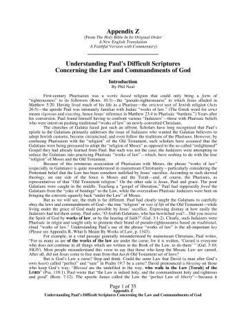 Understanding Paul's Difficult Scriptures - Christian Biblical Church ...