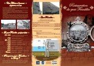 dépliant sur la restauration du quai Franklin - Auray