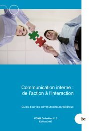 COMM Collection 3 Communication interne - Fedweb - Belgium