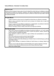 TDRs Auditeur Interne - Consult Services Synergie