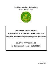 République Islamique de Mauritanie - Unesco