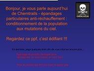 Chemtrails - Santé en danger