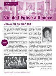 Décembre 2011 - Eglise catholique romaine de Genève