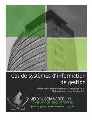 Systèmes d'information de gestion - Jeux du commerce