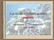Les récifs coralliens et leurs ennemis - 2Da