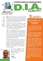 bulletin - SNB/CFE-CGC BNP Paribas
