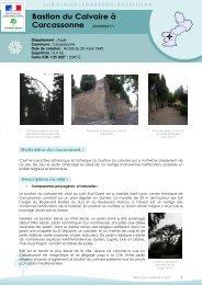 Bastion du Calvaire à Carcassonne - DREAL Languedoc-Roussillon