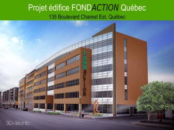 Projet édifice FONDACTION Québec - Kollectif.net