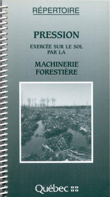 FORESTIERE - Gouvernement du Québec