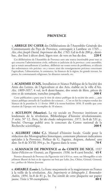 PROVENCE - Livre Rare Book