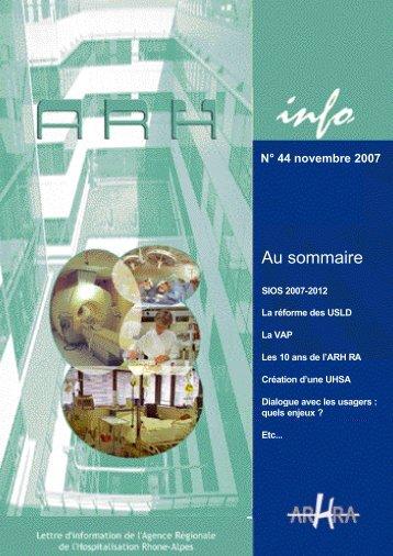 ARH Info numéro 44 - Novembre 2007 - Parhtage santé