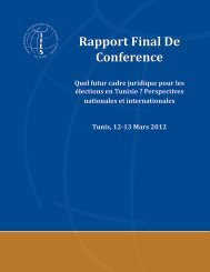 RAPPORT FINAL DE CONFERENCE « Quel futur cadre ... - IFES