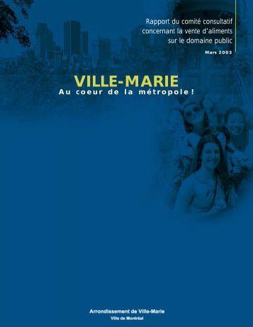 Vente d'aliments sur le domaine public - Ville de Montréal