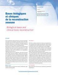 Bases biologiques et cliniques de la reconstruction ... - gepi-mattout