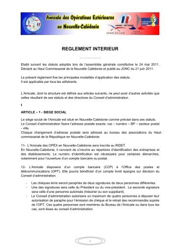 R glement int rieur offwiller for Le reglement interieur