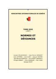 Rencontres internationales. Deuxième débat, troisième entretien