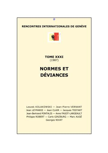 Rencontres internationales geneve 2018