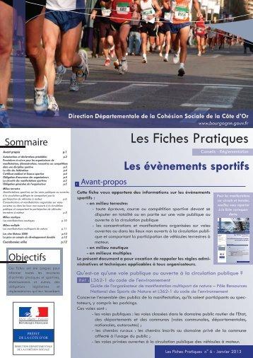 Evènements sportifs - préfecture de Côte-d'Or