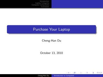 Purchase Your Laptop