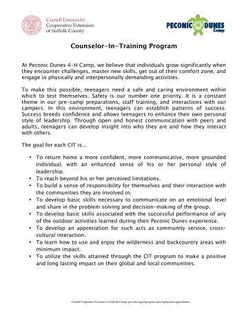 the CIT Program Description. - Cornell Cooperative Extension of ...