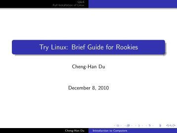 Try Linux: Brief Guide for Rookies