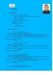 Curriculum vitae Europass - Universitatea de Nord din Baia Mare