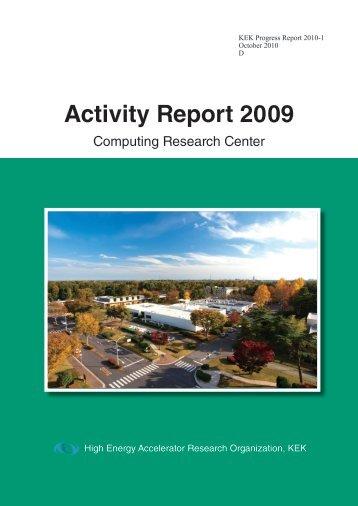 Activity Report 2009 - KEK