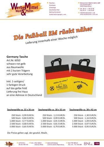 Die Fußball EM rückt näher Germany Tasche - werbecenter-c.de