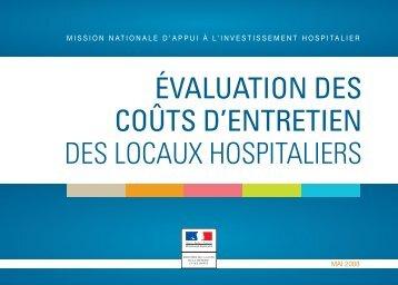 évaluation des coûts d'entretien des locaux hospitaliers - Anap