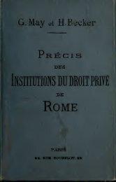 Prcis des institutions du droit priv de Rome : destin l'explication des ...