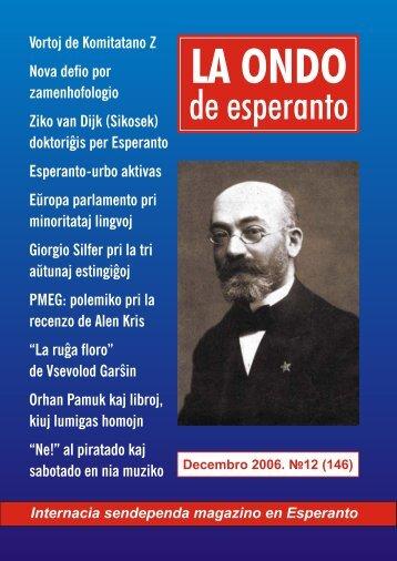 La Ondo de Esperanto, 2006, n-ro 12 (146) - Esperanto.Org