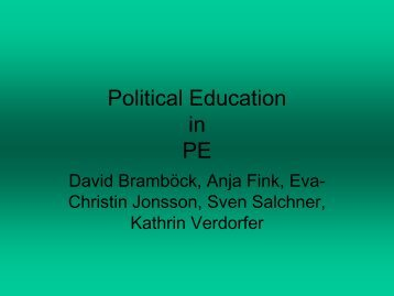 Citizenship education in P.E.