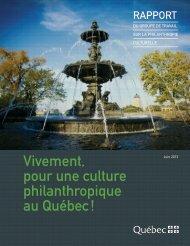 Vivement, pour une culture philanthropique au Québec! - Finances ...