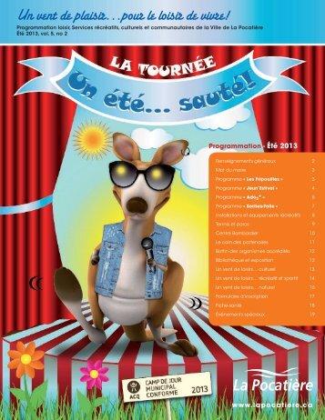 Programmation - Été 2013 - Ville de La Pocatière