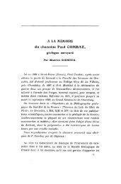du chanoine Paul COMBAZ, - Revue de géologie alpine